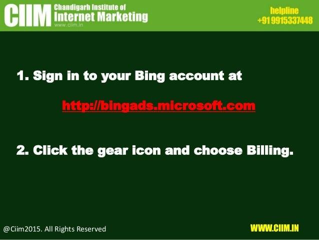 How to Setup Billing in Bingads Slide 2