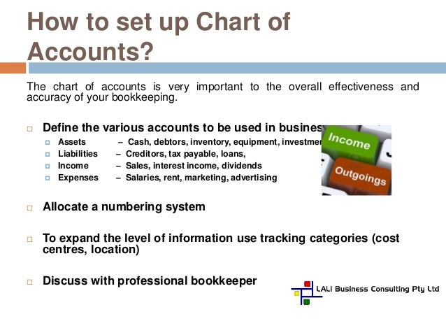 set up a business accounting system?