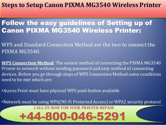 44-8000465291 Setup Canon PIXMA MG3540 Wireless Printer