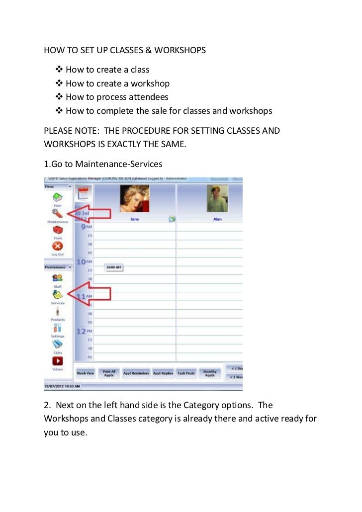 HOW TO SET UP CLASSES & WORKSHOPS   How to create a class   How to create a workshop   How to process attendees   How ...