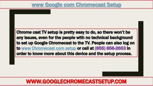 chromecast setup issues