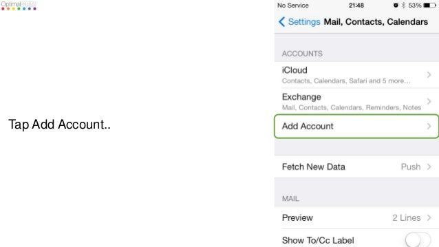how to add office 365 exchange email to iphone