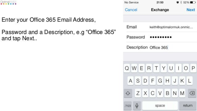 How to set up office 365 exchange online email on an iphone - Office 365 server settings outlook ...