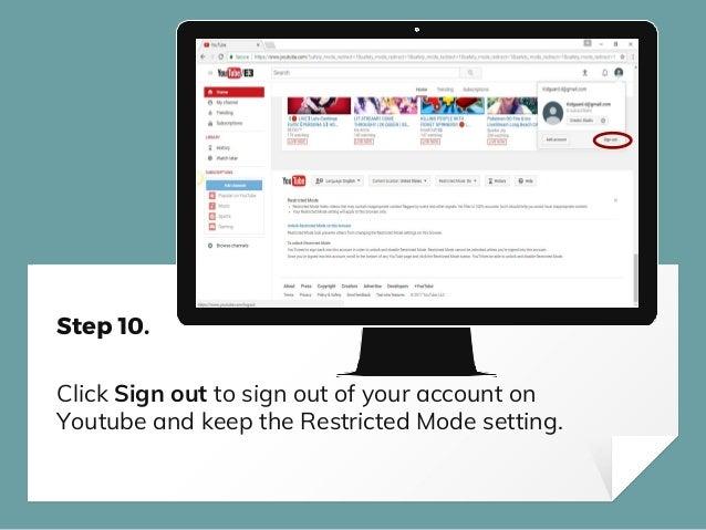 How to setup parental controls on youtube