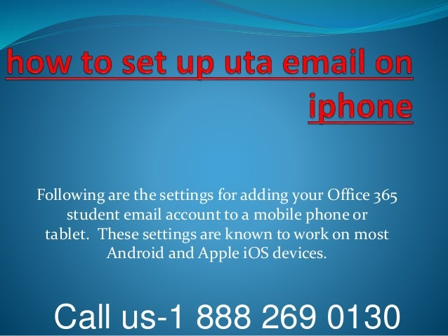 how to set up hotmail on iphone how to set up uta email on iphone 18882690130 20316