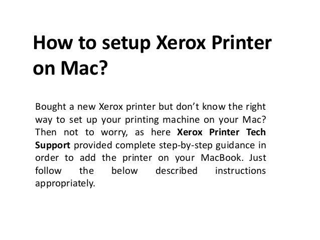 Xerox Setup