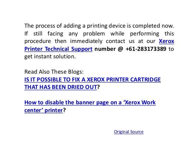 How to setup Xerox Printer on Mac?