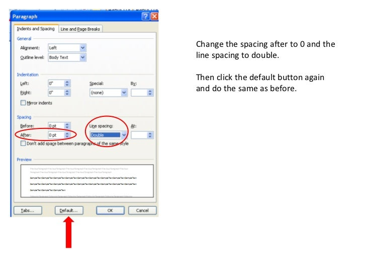 how to set up mla format on openoffice