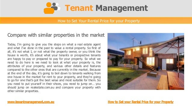 Tenant Management                                     How to Set Your Rental Price for your PropertyCompare with similar p...