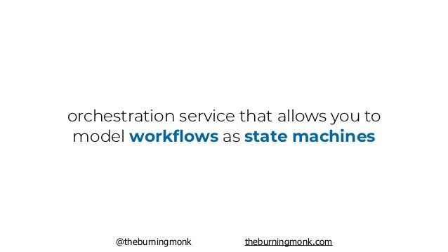 @theburningmonk theburningmonk.com orchestration service that allows you to model workflows as state machines