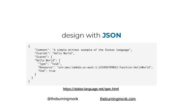 @theburningmonk theburningmonk.com design with JSON https://states-language.net/spec.html