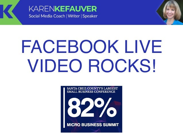 FACEBOOK LIVE VIDEO ROCKS!