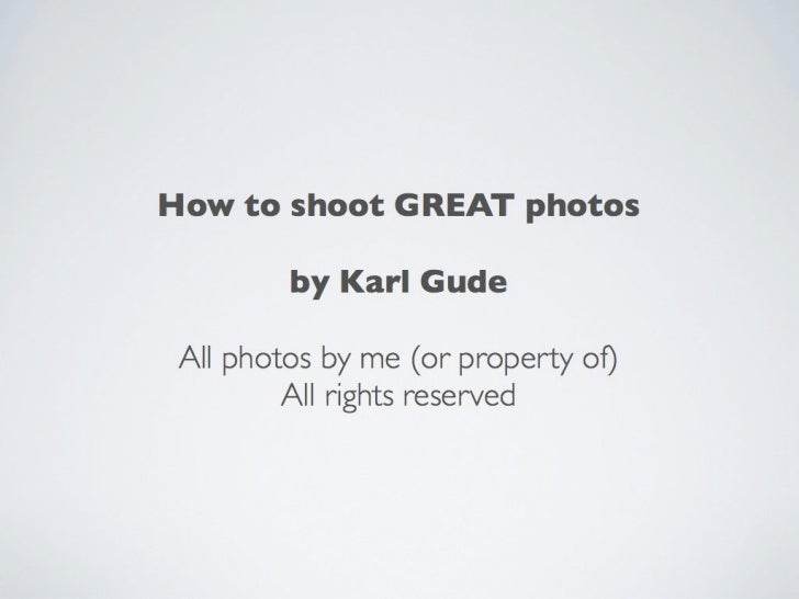 How to compose great photos