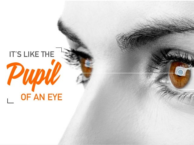 Pupil IT'S LIKE THE OF AN EYE
