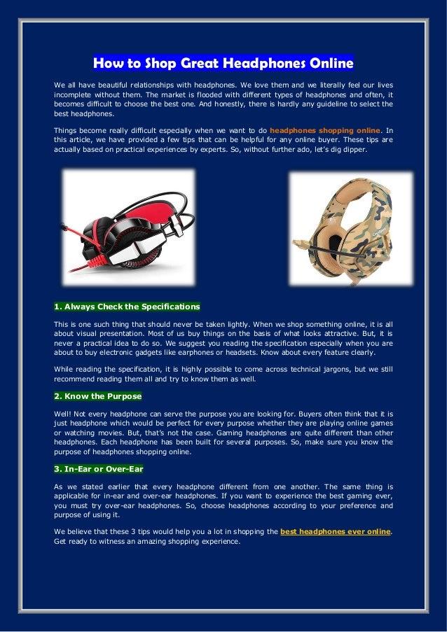 How To Shop Great Headphones Online