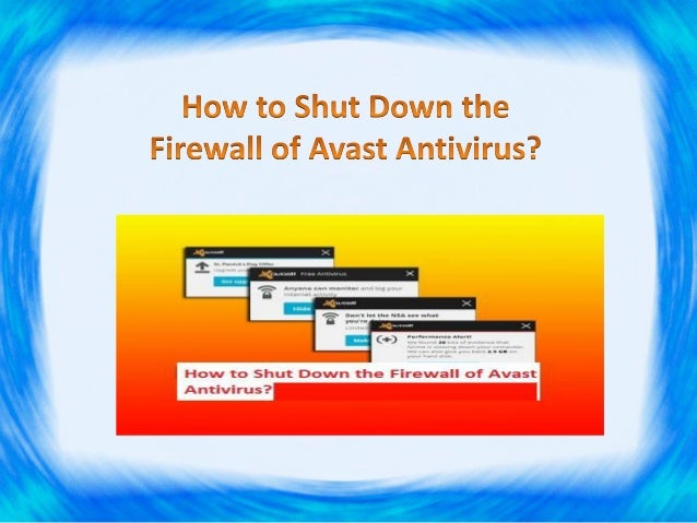 a program is trying to shut down avast