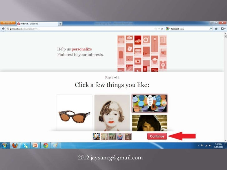 How to sign up for Pinterest using your Facebook account