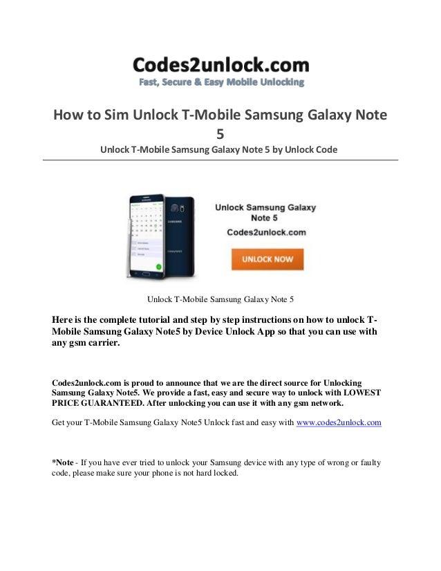 T-mobile unlock codes free
