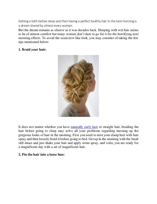 Outstanding How To Sleep On Wet Hair Without Messing It Up Hairstyles For Men Maxibearus
