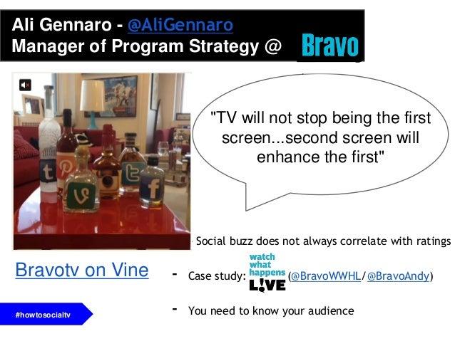 - It all starts with compelling content, ex: Fallon/Kimmel- Second screen phenomenon vs. second screen- Capitalize on soci...