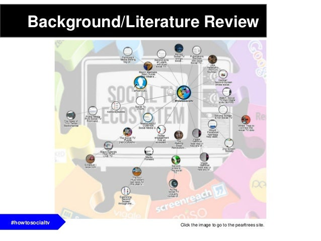 Background/Literature Review#howtosocialtv Click the image to go to the pearltrees site.#howtosocialtv