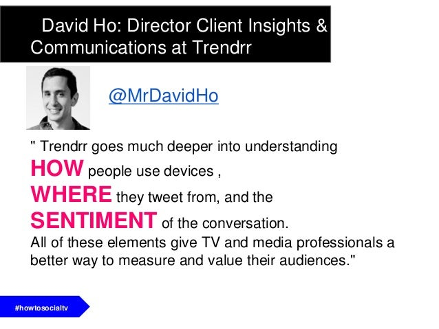 1. Understand how audiences engage with TVo different services (Facebook, GetGlue, Viggle) elicitdifferent behaviors from ...