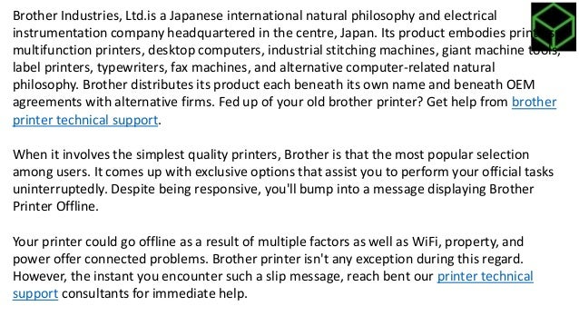 How to solve brother printer offline problem