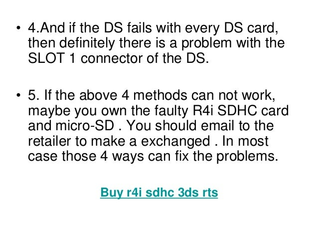 """How to solve the problems""""there is no ds card inserted"""