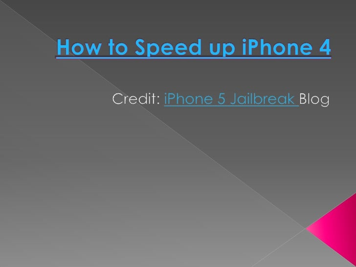    Even though iPhone 4 is one of the    fastest iOS device with A4 chip, it tends    to get slower after installing few ...