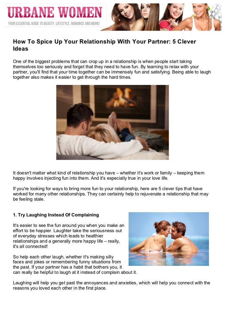 Learning to relax in a relationship