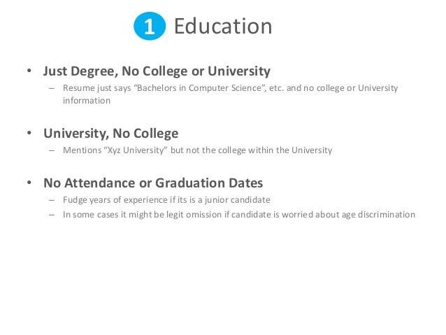 ... Freelancer Resume; 2. 1 Education U2022 Just Degree, No College ...  Resume With No College Degree