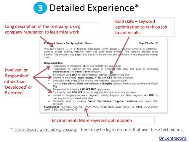 SlideShare  Fake Resume