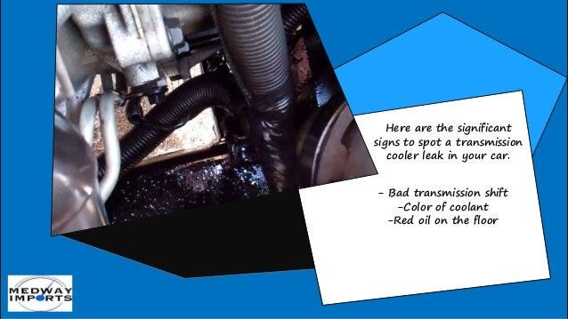 How to Spot a Transmission Cooler Leak