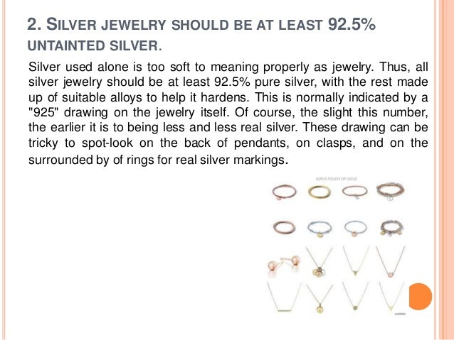 how to tell if silver is real on jewelry