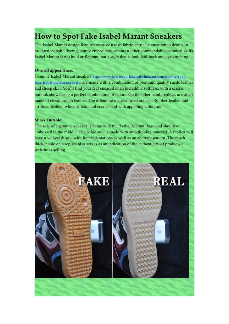 How To Spot Fake Isabel Marant Sneakers