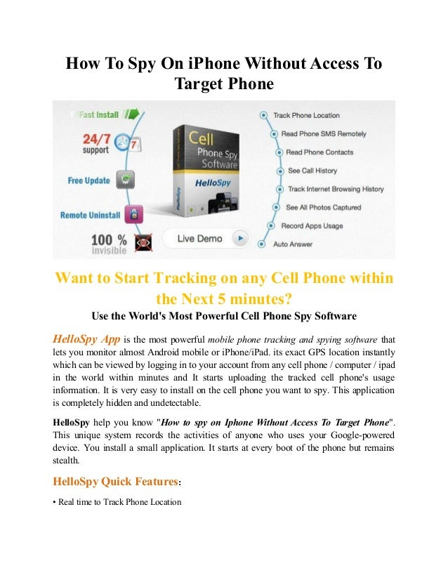 Spy On Iphone Without Target Phone