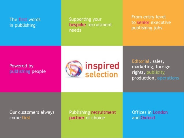 @Inspiredjobs Offices in London Inspired Selection 0203 668 6733 Accredited by www.inspiredselection.com The first words i...