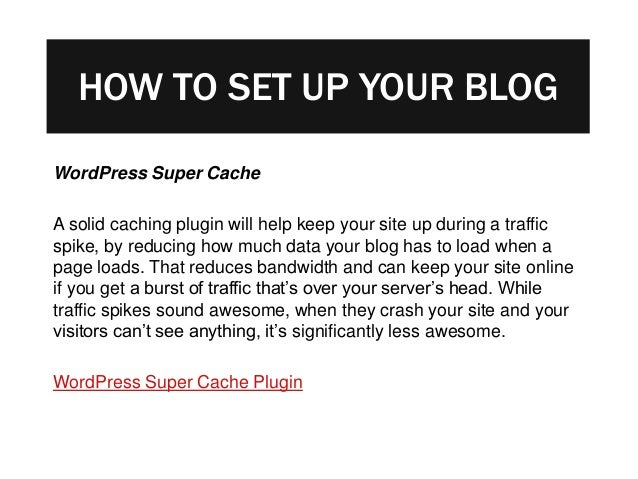 How To Start A Blog: The Definitive Guide slideshare - 웹