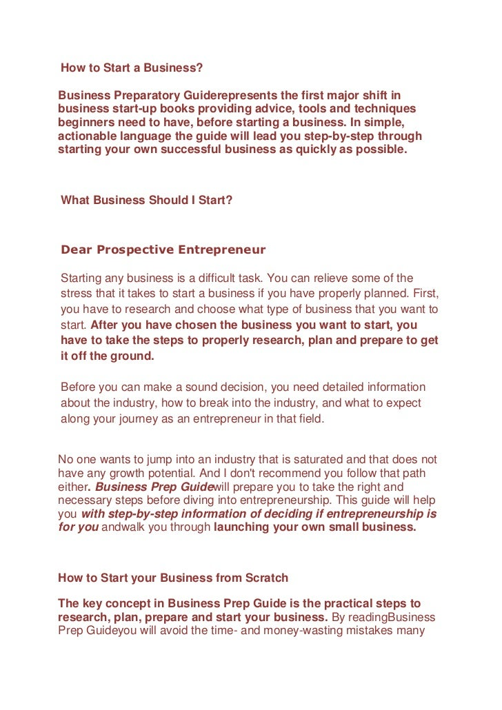 How to Start a Business?<br />Business Preparatory Guide represents the first major shift in business start-up books provi...