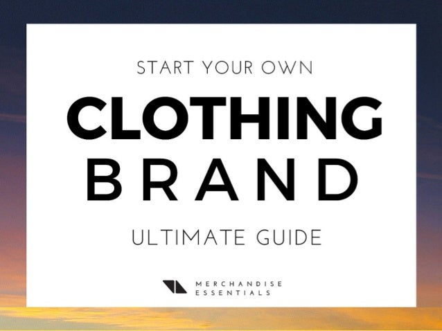 Make your own clothing brand online