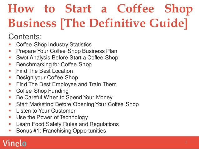 Opening a coffee shop