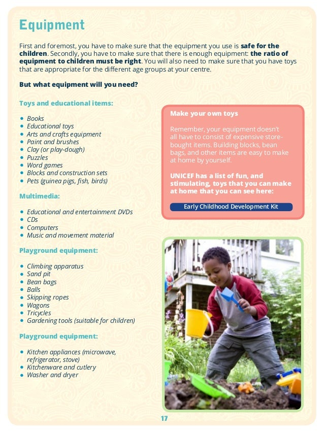 The a to z of starting your own early childhood development centre 17 sciox Choice Image