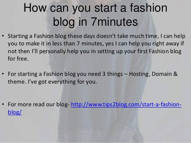how to start a fashion blog website
