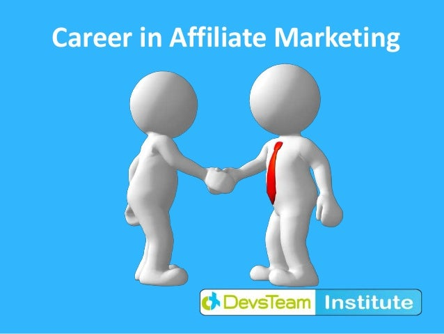Career in Affiliate Marketing