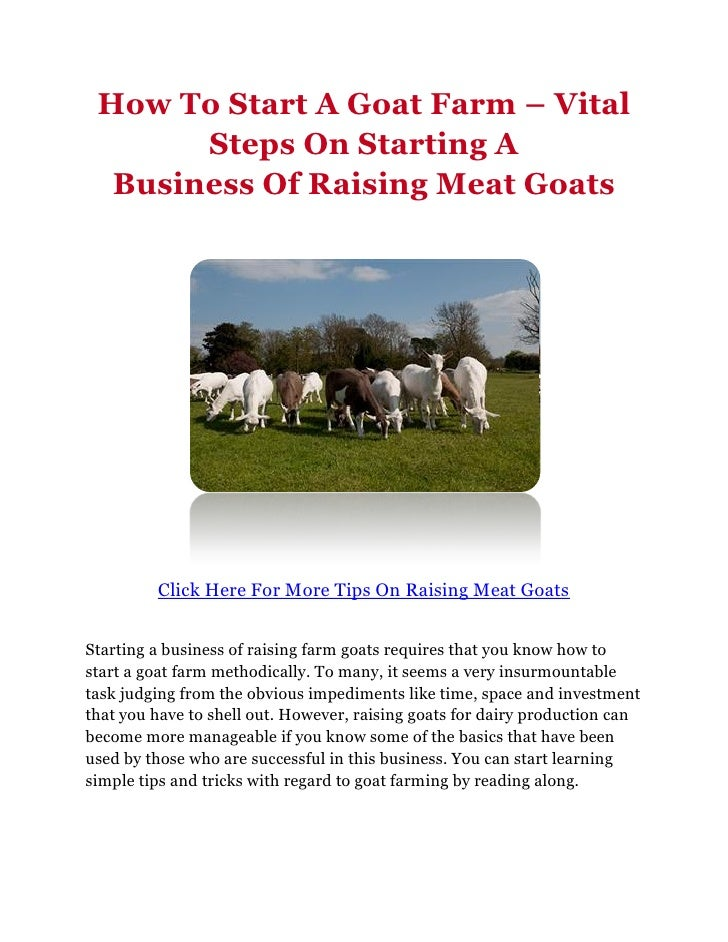 Business plan for meat goat farming - Online Writing Service