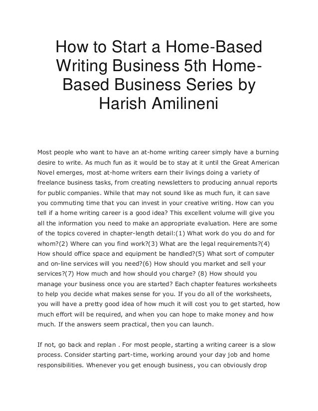 starting a writing business