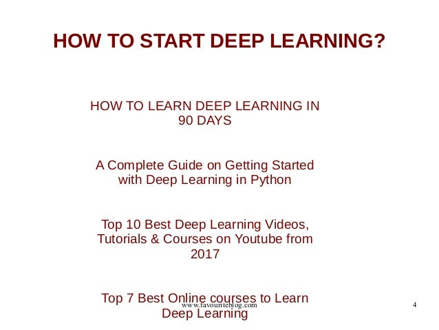How to start ai machine learning deep learning