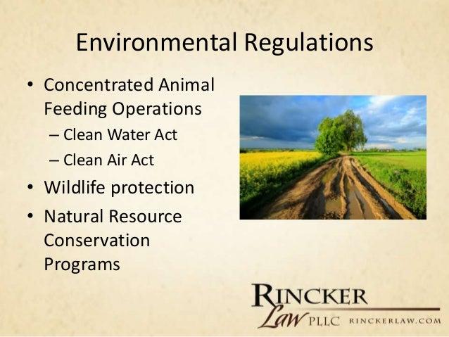 ... 16. Environmental Regulations U2022 Concentrated Animal ...