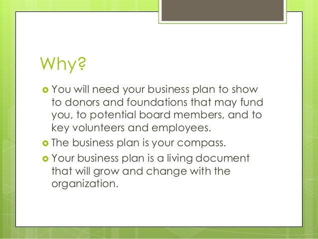 business plan for non-profit foundations