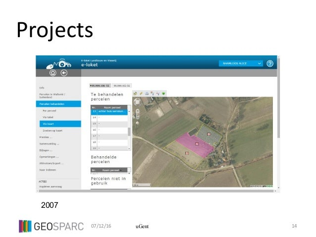 07/12/16 14uGent Projects 2007
